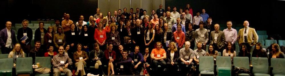Photo de groupe. Premier congrès de la SCC, Toronto, mai 2013