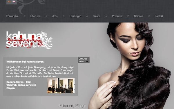 Zweisprachige Webseite für einen Frisörsalon