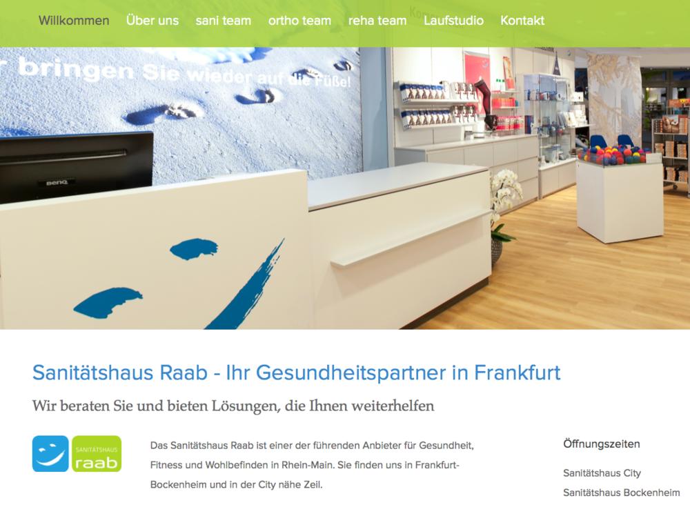 Full Service Web für ein Sanitätshaus