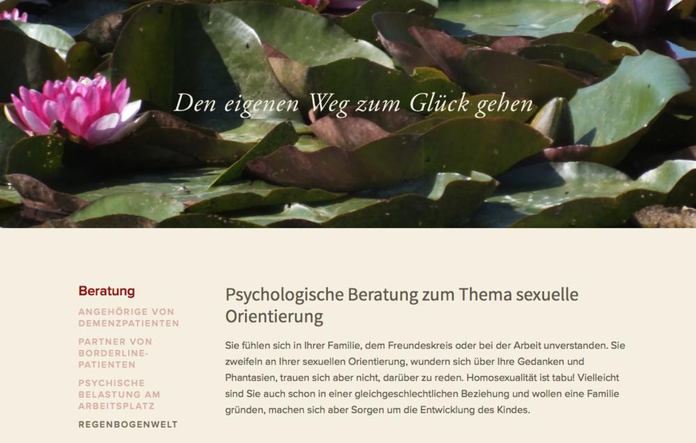 Komplette Webseite mit Konzept Text Design SEO