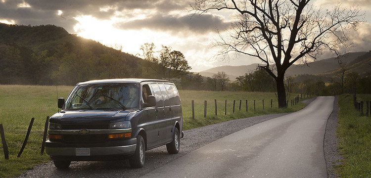 We provide transportation on all our overnight tours. We have a comfortable 8 passenger van (see above picture). This van easily fits 6 photographers and their luggage, photo gear, and tripods. Having one vehicle allows us to access places with limited parking and respond quickly for roadside wildlife and landscapes.