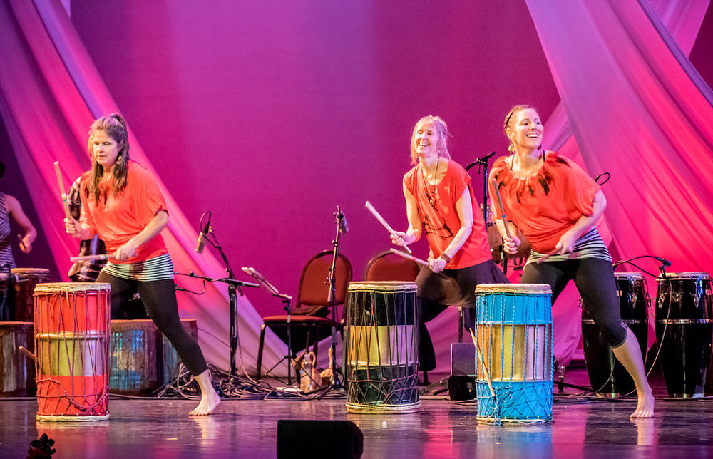 Jessica Telfair, Debra Robert, and Jodi Wygmans on the Boom Chix reunion piece
