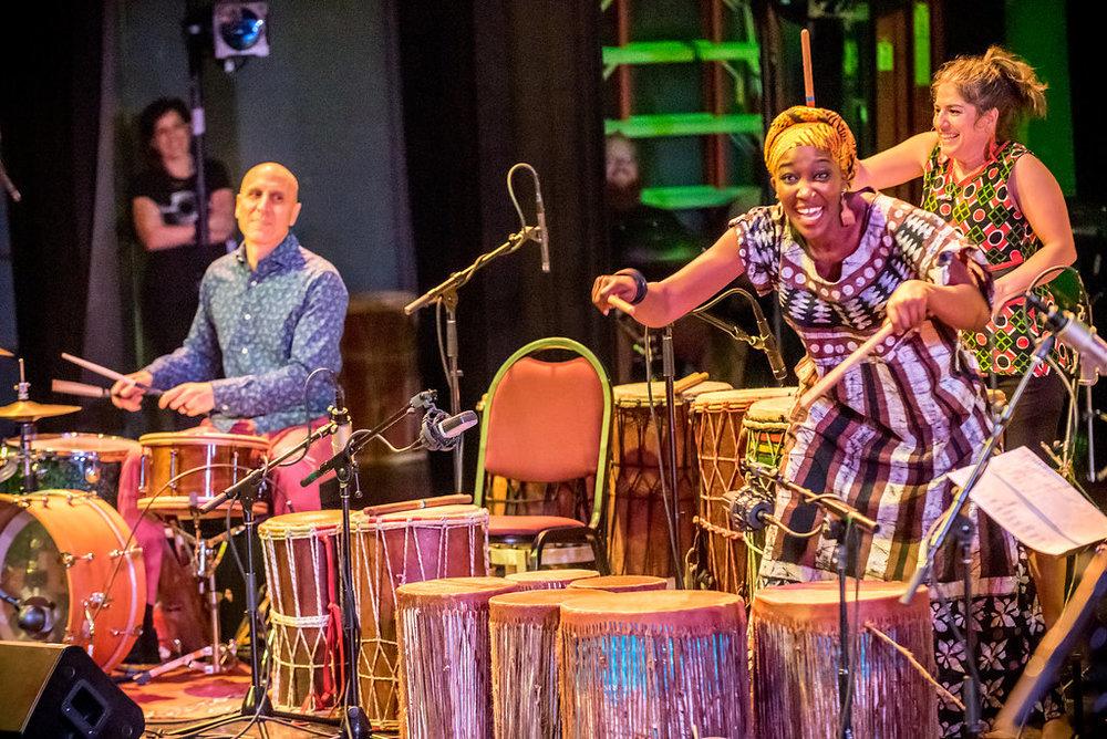 """River Guerguerian, Kasiva Mutua, and Jessie Lehmann on Kasiva's original piece, """"Pumoja"""""""