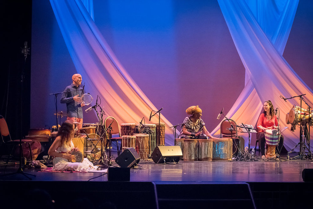 "Raquy Danziger, River Guerguerian, Kasiva Mutua, and Monette Marino on Kasiva's original composition, ""Pamoja"""