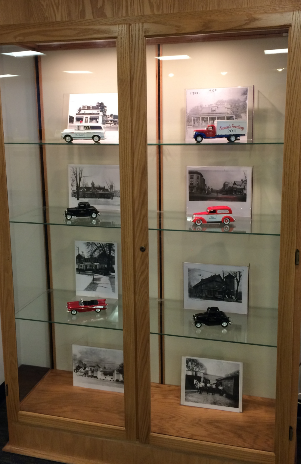 Come to the library and see our collection of holiday cars from Mayor Peter Rustin!