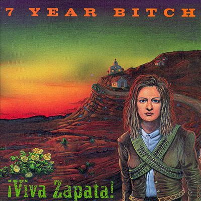The band 7 Year Bitch named their second album Viva Zapata as a tribute to Mia. The album cover features an illustration of Mia with bandoliers, standing in a south western landscape. This is a reference to the Mexican revolutionary, Emiliano Zapata, and the 1952 biographical film--starring Marlon Brando--that shares the albums name.