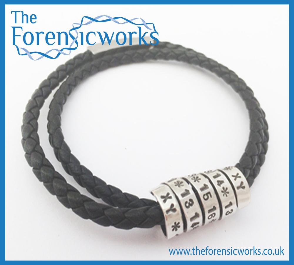 Helix Braided leather bracelet Branded Framed.jpg