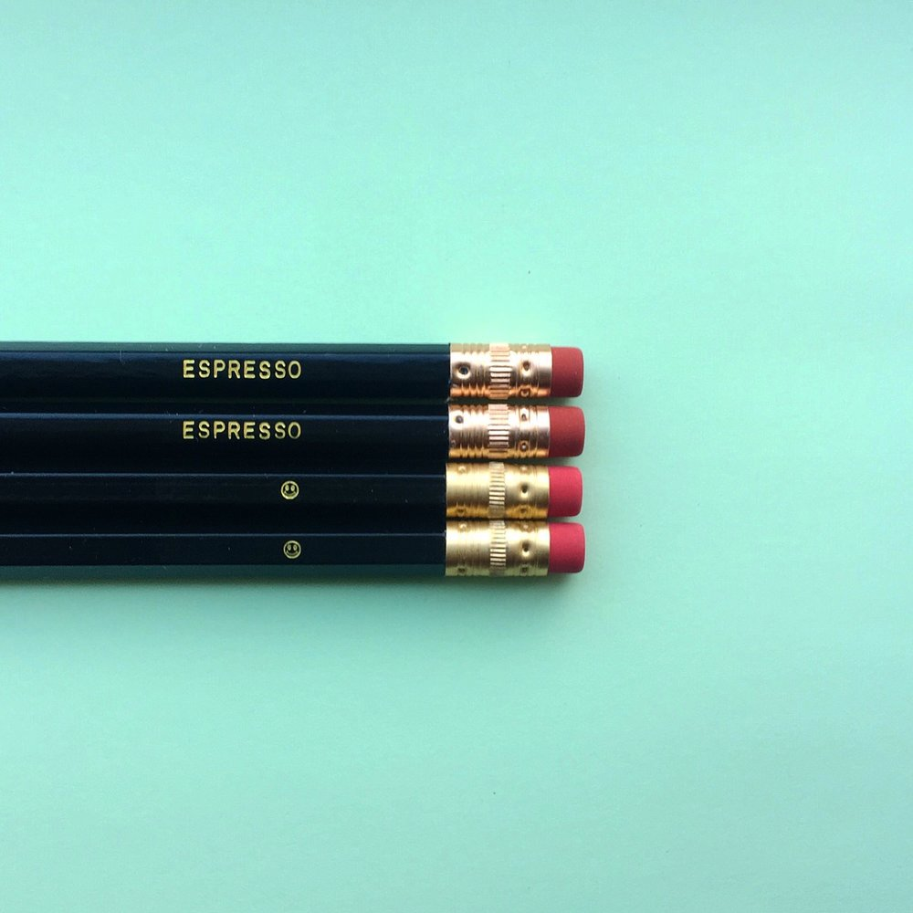 Espresso pencils - part of  Coffee Buzz Buzz pencil set