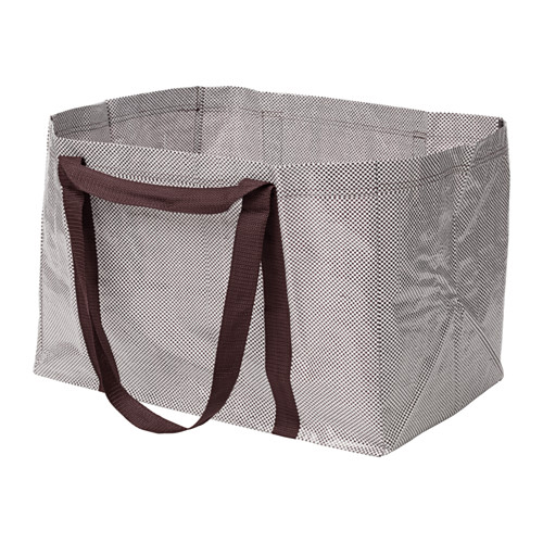 Ikea Ypperlig Shopper - Dark Red / White