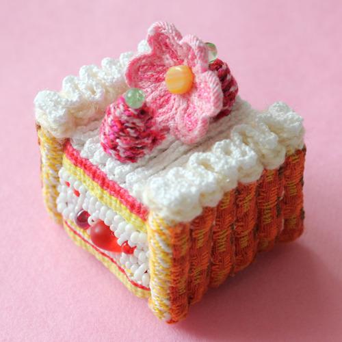 handmade crochet raspberry cake.jpg