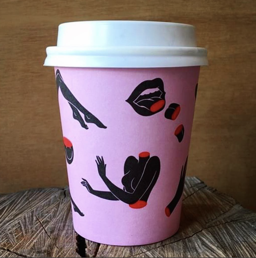 illustrated coffee cups