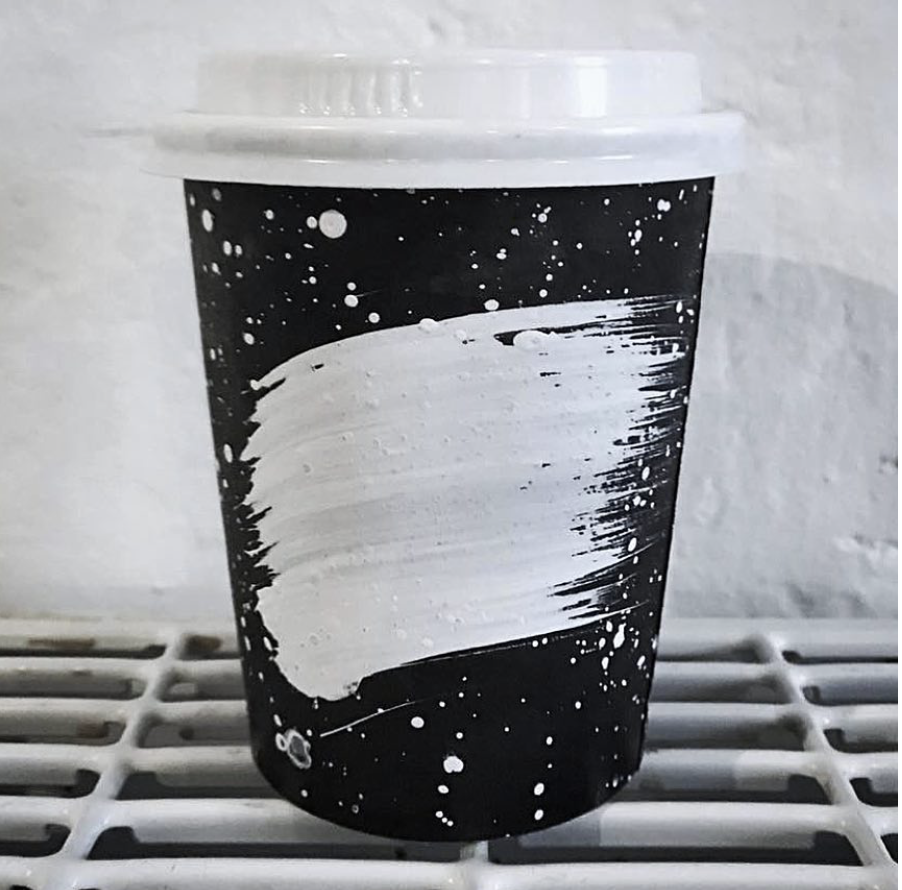 universe pattern coffee cup