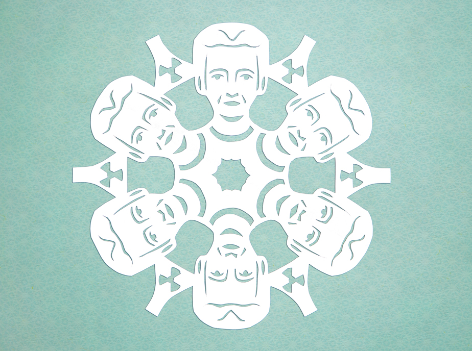 marie curie paper snowflake