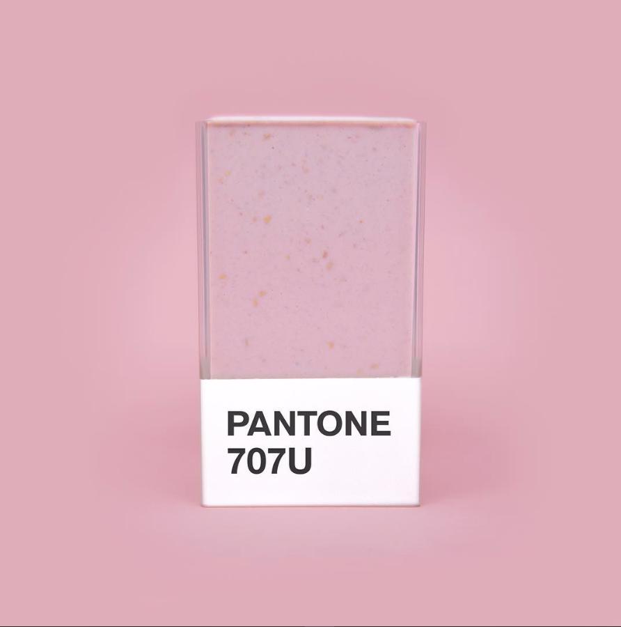 pastel pink pantone smoothie