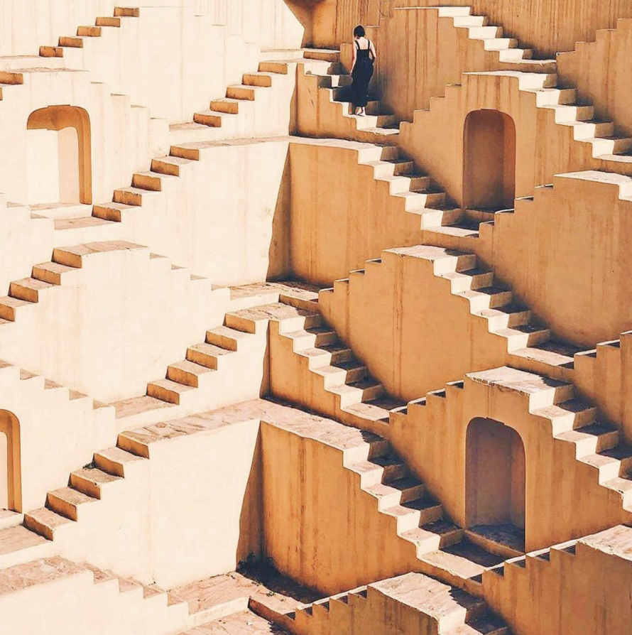 Staircase in Amber Fort, Rajasthan, India