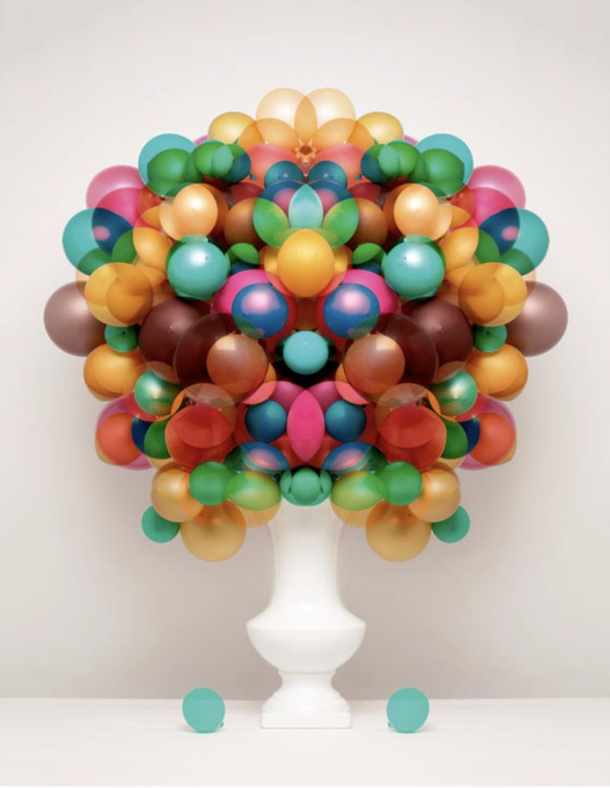 bubblegum balloon flower arrangement Sarah Illenberger