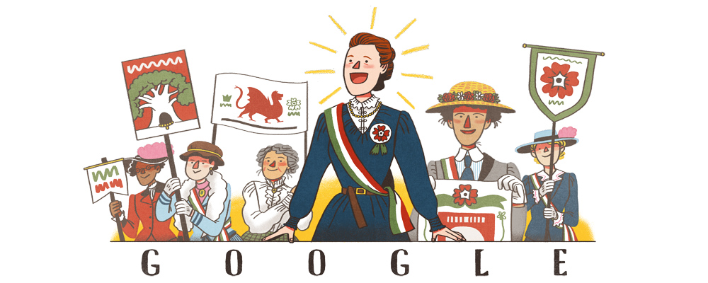 Google Doodle Dame Millicent Fawcett