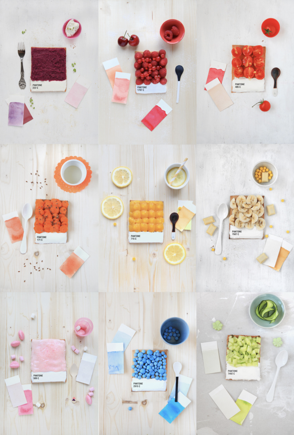 matching food pantone colour palette