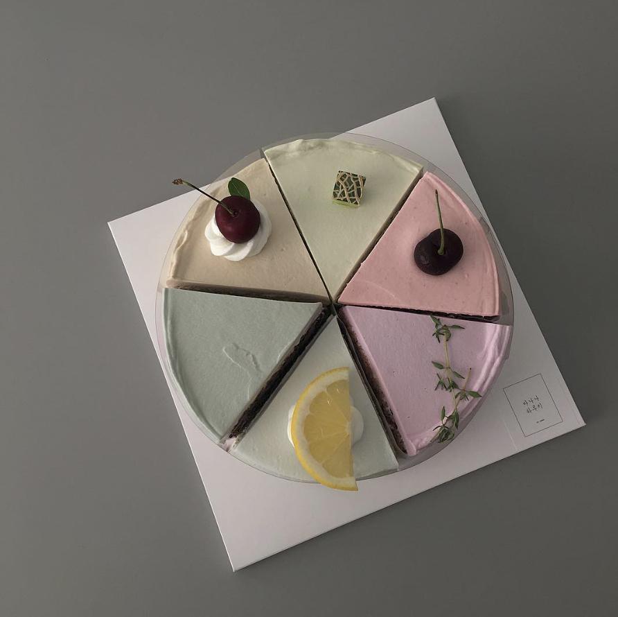 korean pastel cake palette
