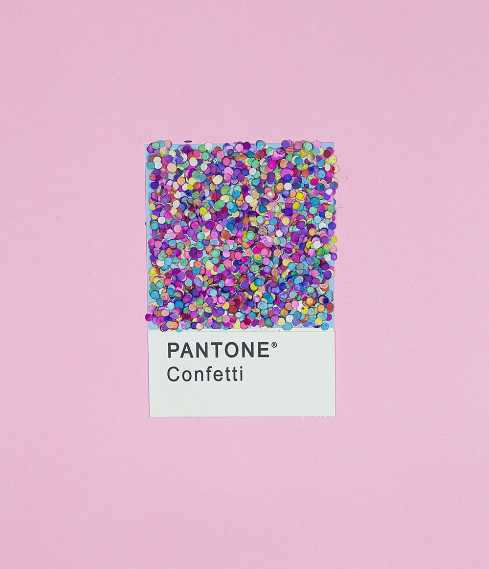 fun pantone confetti shade