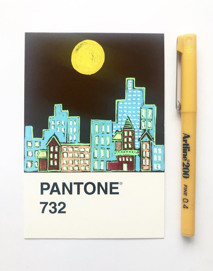pantone 732 architecture illustration cityscapes project
