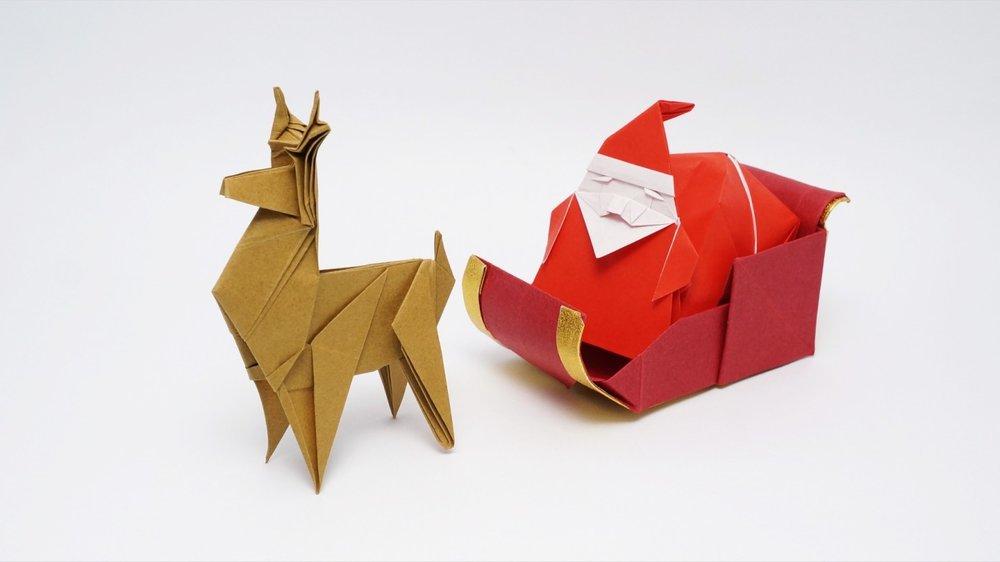 Reindeer and Santa Origami.jpg