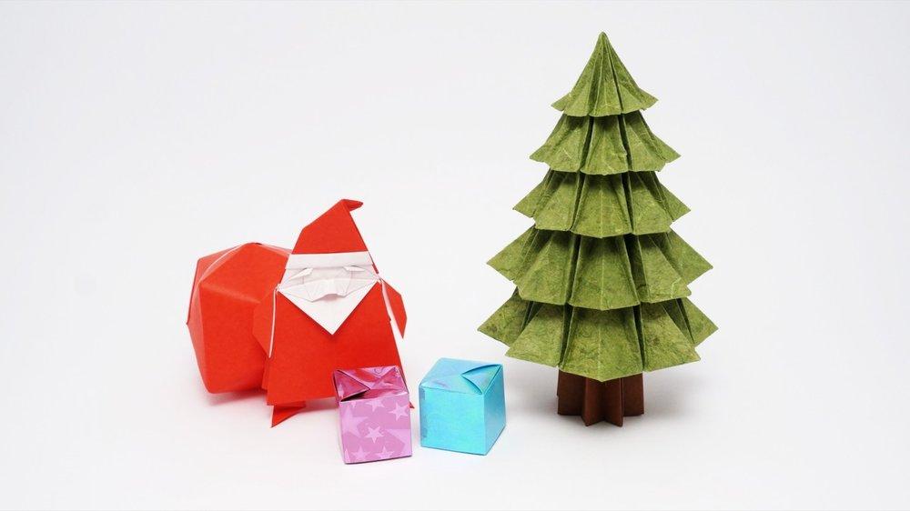 Paper Santa and Origami Tree.jpg