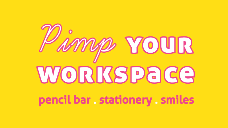 I AM A pimps your workspace. Pop Up pencil bar with limited edition pick and mix foiled pencils, stationery and plenty of smiles at Craft Central London, Clerkenwell.