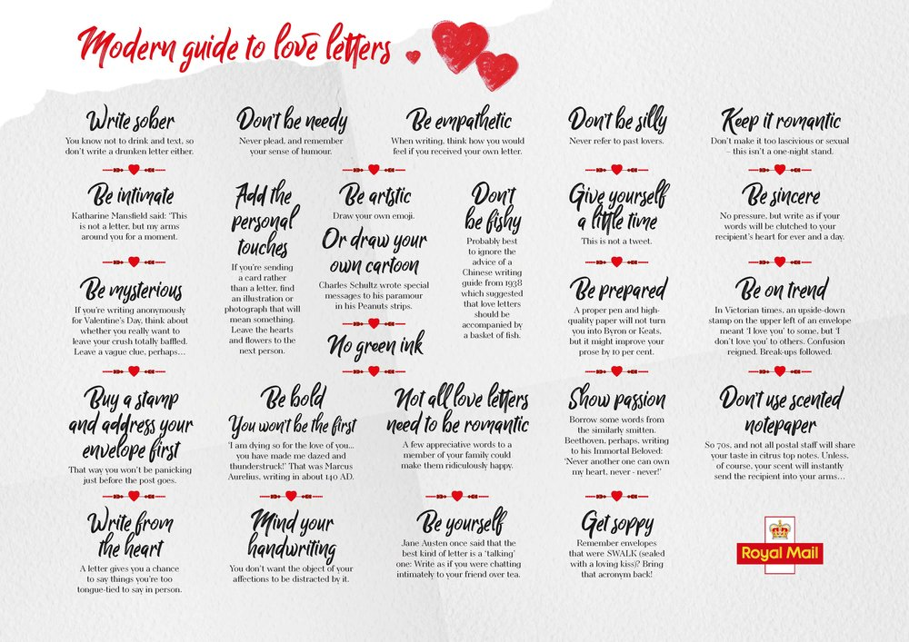 British tips for writing love letters