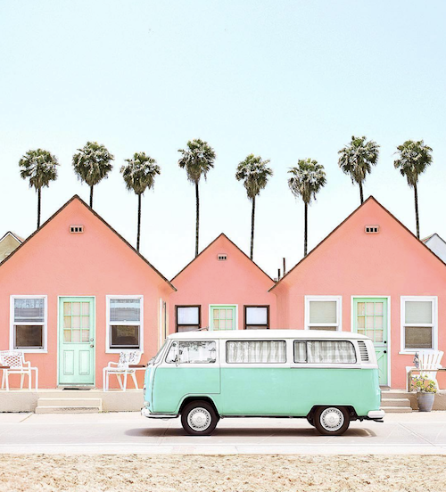 camper van pink houses palm trees california.png