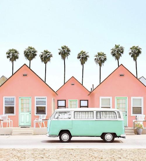 camper van pink houses palm trees california.png