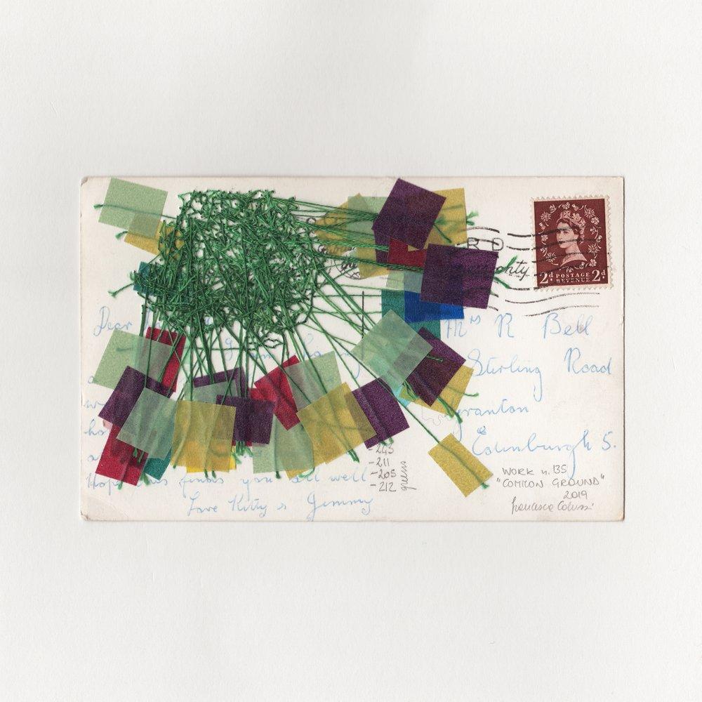 Common Ground Francesca Colussi Cramer Vintage Postcard Back Embellish Embroidery Stiching.jpg