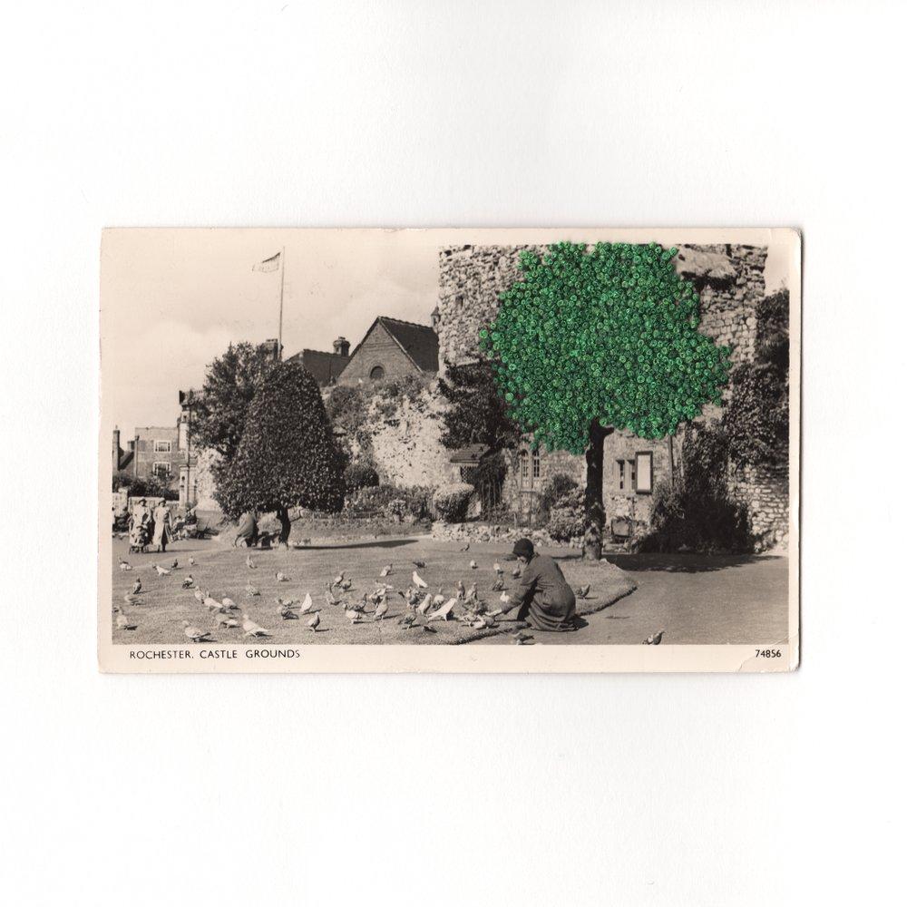 Rochester Common Ground Castle Francesca Colussi Cramer Vintage Postcard Embellish Embroidery Stiching.jpg