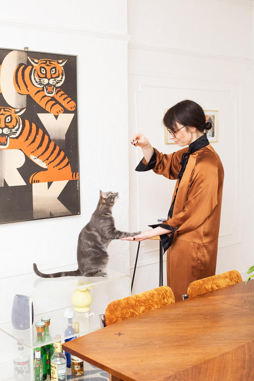 Art Director Gabrielle and Cat Fievel, New York