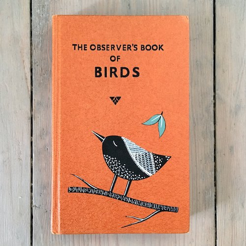 cute customised vintage book cover on birds
