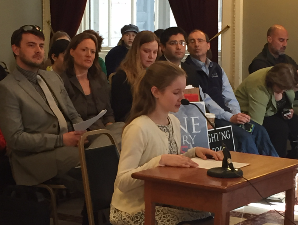 Taegen Yardley testifies in Montpelier