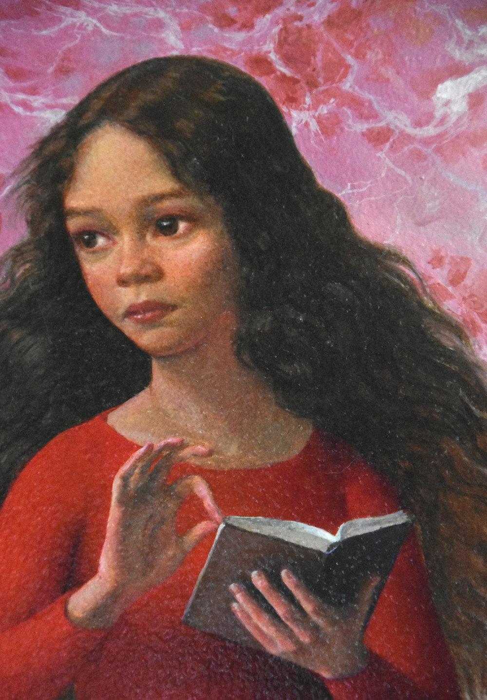 Annunciation, detail
