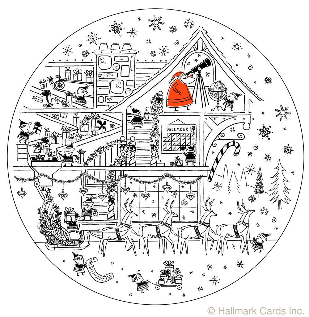 Retail Plate Santa Loading Sleigh.jpg