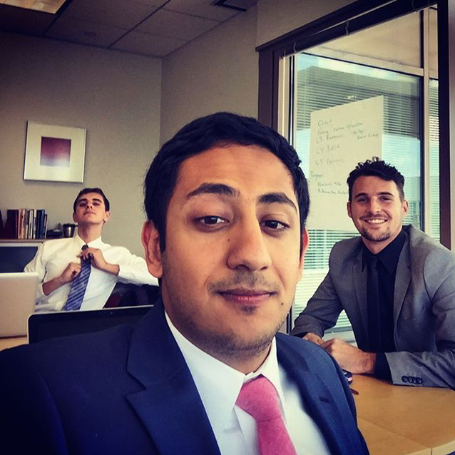 """Summer 2015 interns in their """"intern cave"""""""