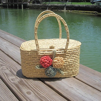 Vintage basket bag, new in the shop 🌺 . . . #summer #summertime #summerstyle #vintage #vintageshop #retro #boho #hippieatheart #beach #etsyvintage #miamivintage #miami #1960s