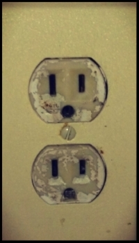 Electrical outlet without covers