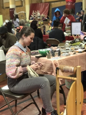 Detroit Waldorf School-Winter Faire-weaving