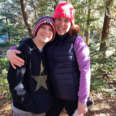 This picture was taken January 5, 2019, along the path at Cranbrook House and Gardens with my son, Shaya Schreiber, DWS 7th grader.