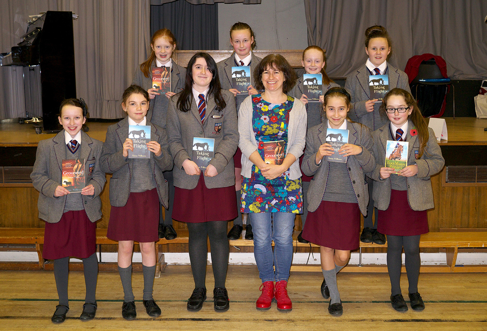 Visit by the author Sheena Wilkinson a past pupil of VCB. Sheena gave a talk to all of Y8 & Y9 pupils. Sheena focused on writing and her books Taking Flight, Grounded and Too Many Ponies.