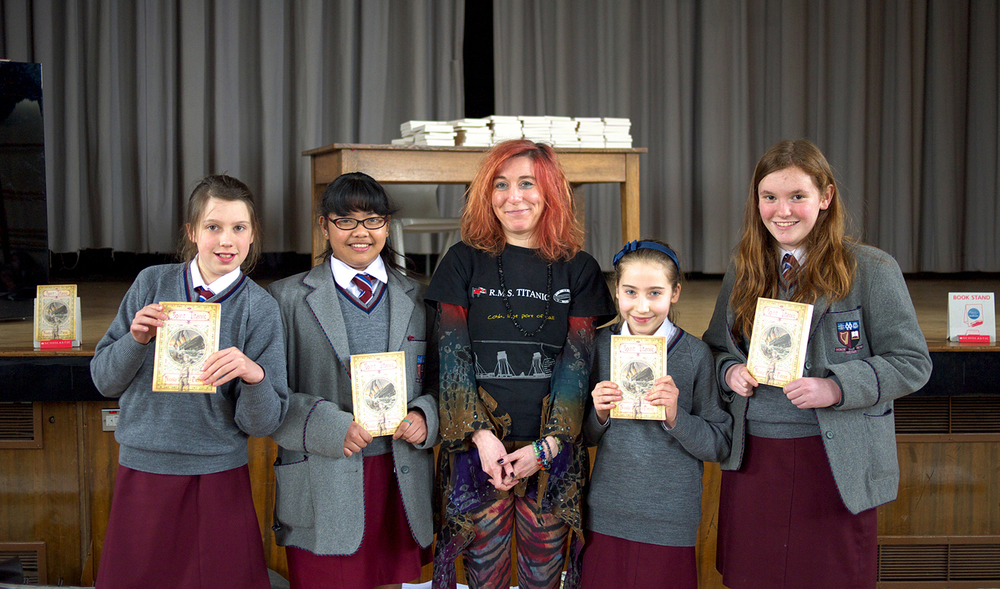 Author Nicola Pierce spoke to all of Y8 & Y9 pupils and focused on the importance of writing and discussed her book Spirit of the Titanic.