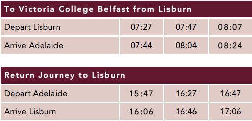 Lisburn Timetable