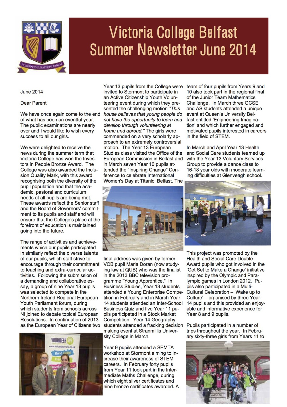 Summer Newsletter June 2014