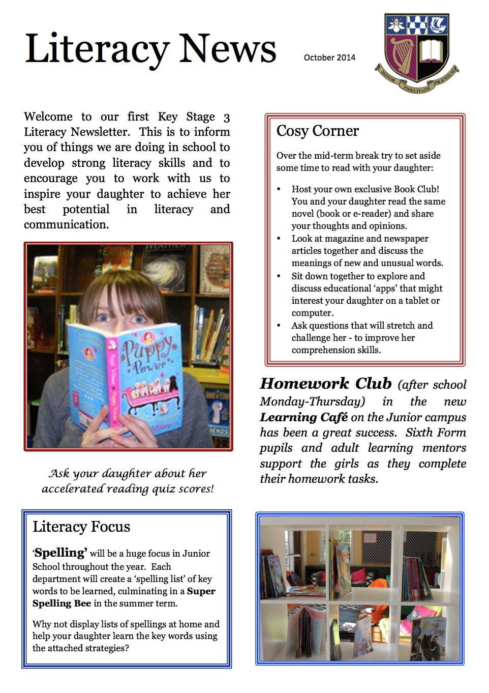 October Literacy Newsletter 2015