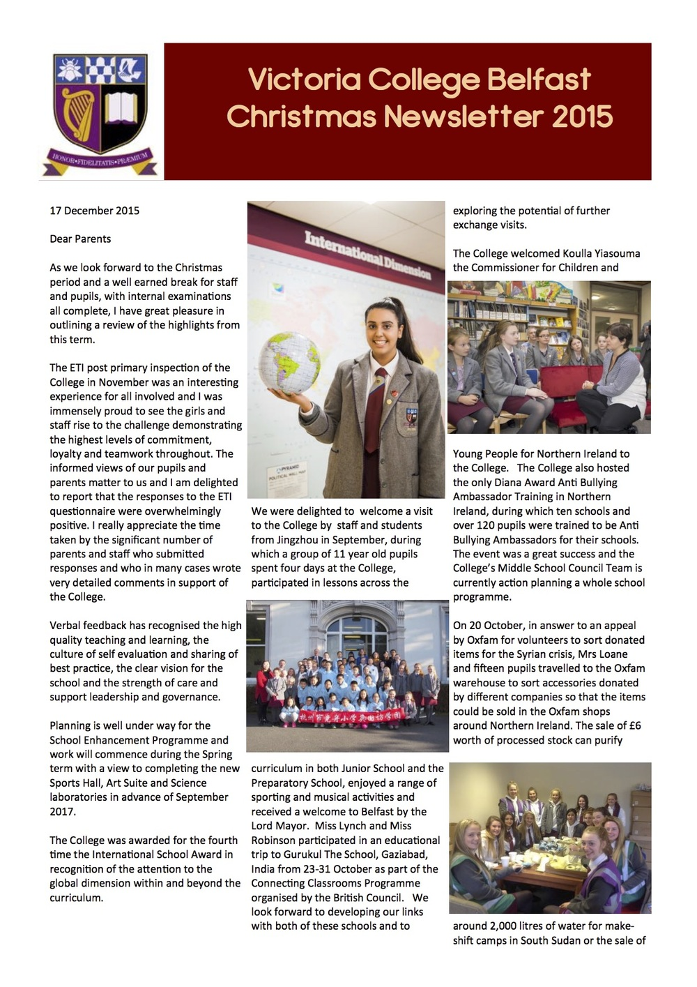 Christmas Newsletter 2015