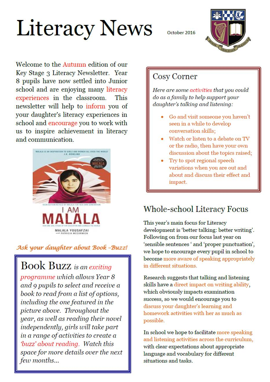Literacy Newsletter Autumn 2016